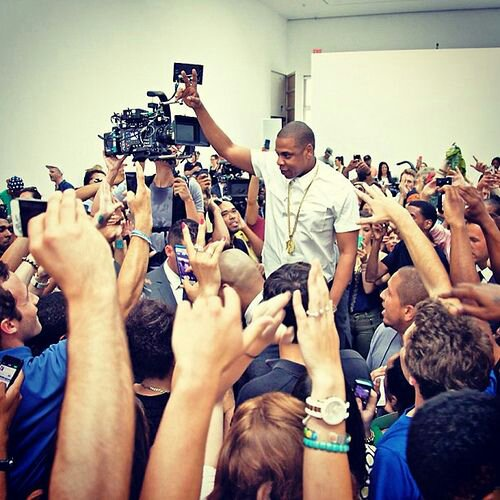 "Shawn Carter Amongst His Fans during ""Picasso Baby"" Performance Art Piece"