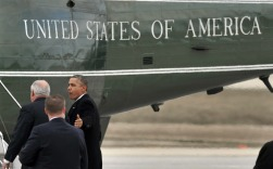 Obama talks with Gov. Pat Quinn while walking to Marine One helicopter at O'Hare. | AP Photo