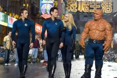 FILM Fantastic Four - Rise of the Silver Surfer (2007)Reed Richards (Ioan Gruffudd and Sue Storm (Jessica Alba) plus thing (no name supplied)