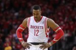 Rockets center Dwight Howard is not happy. (Troy Taormina, USA TODAY Sports)