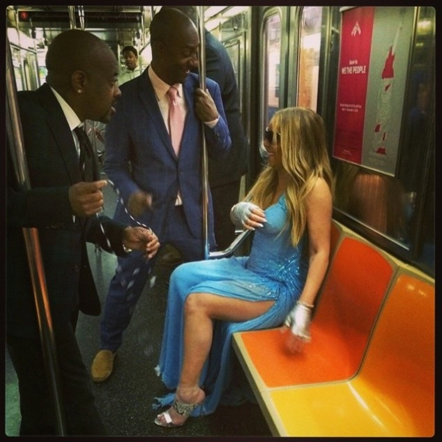 Mariah Carey On The Subway