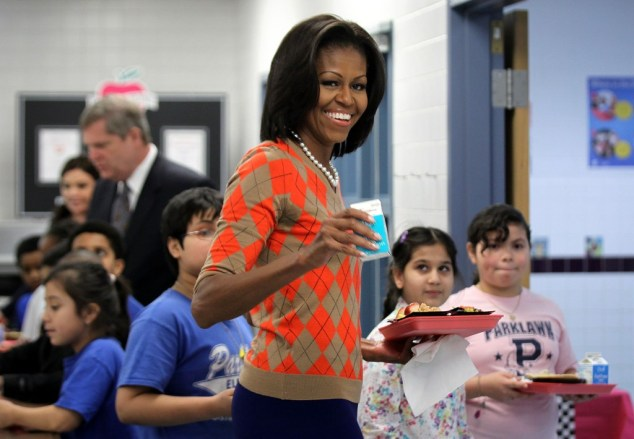 Michelle Obama And Tom Vilsack Discuss New USDA Nutrition Standards For School Lunches