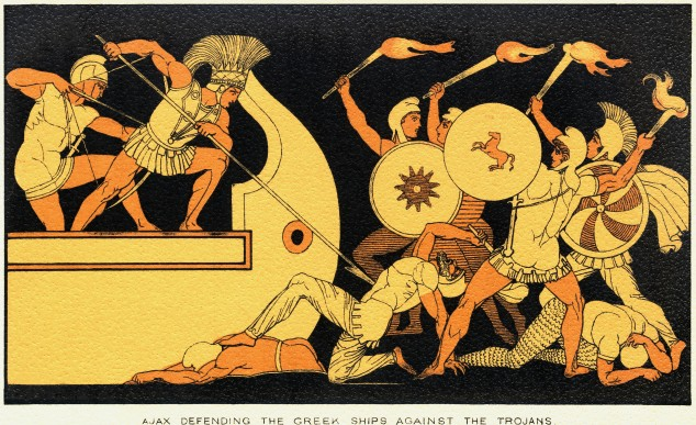 Ajax Defending Greek Ships Against Trojans