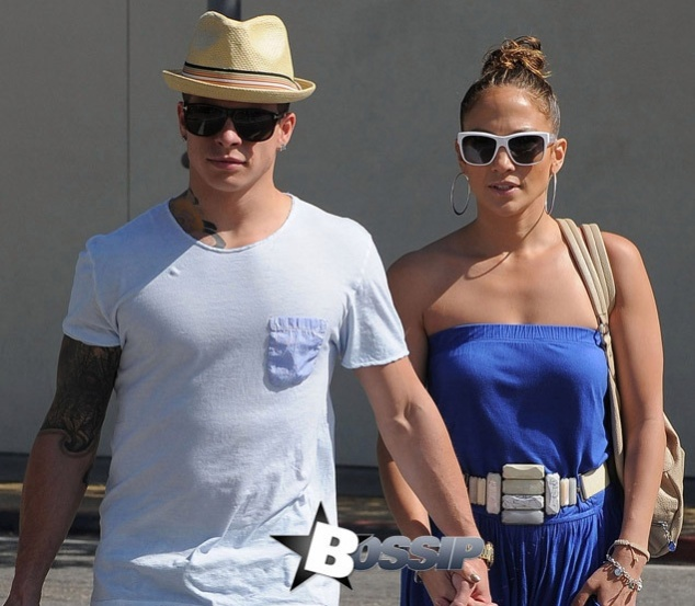 Jennifer Lopez takes Casper Smart shopping at Zara