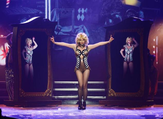 "In this photo provided by Caesars Entertainment, Britney Spears rehearses ""Britney: Piece of Me"" at Planet Hollywood Resort & Casino on Thursday, Dec. 26, 2013, in Las Vegas. Spears began her two-year Las Vegas casino residency Friday. (AP Photo/Caesars Entertainment, Denise Truscello) AP Photo/Caesars Entertainment, Denise Truscello"